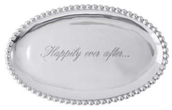 "Mariposa ""Happily Ever After"" Oval Tray"